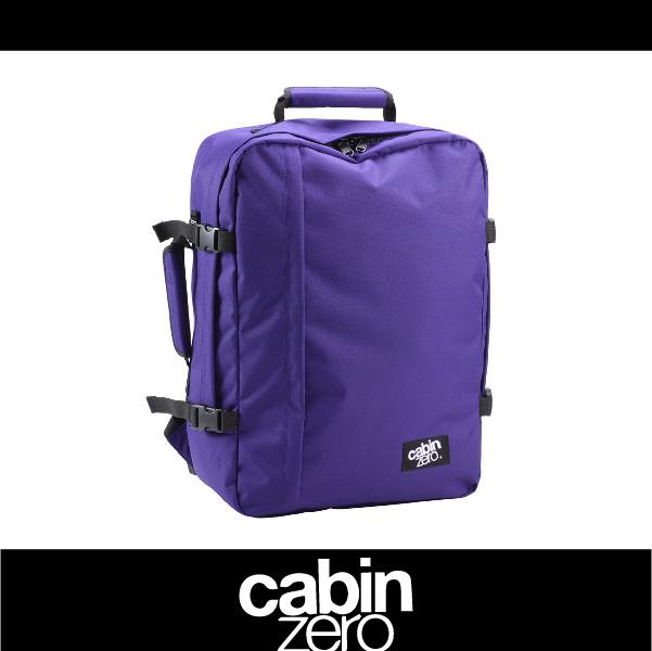 【買就送隨身腰包】CABIN ZERO 161-CZ061206 輕量44L後背包 登機 假期 公事 手提 多用途 可上密碼鎖 國際背包身分證 藍紫色 萬特戶外運動