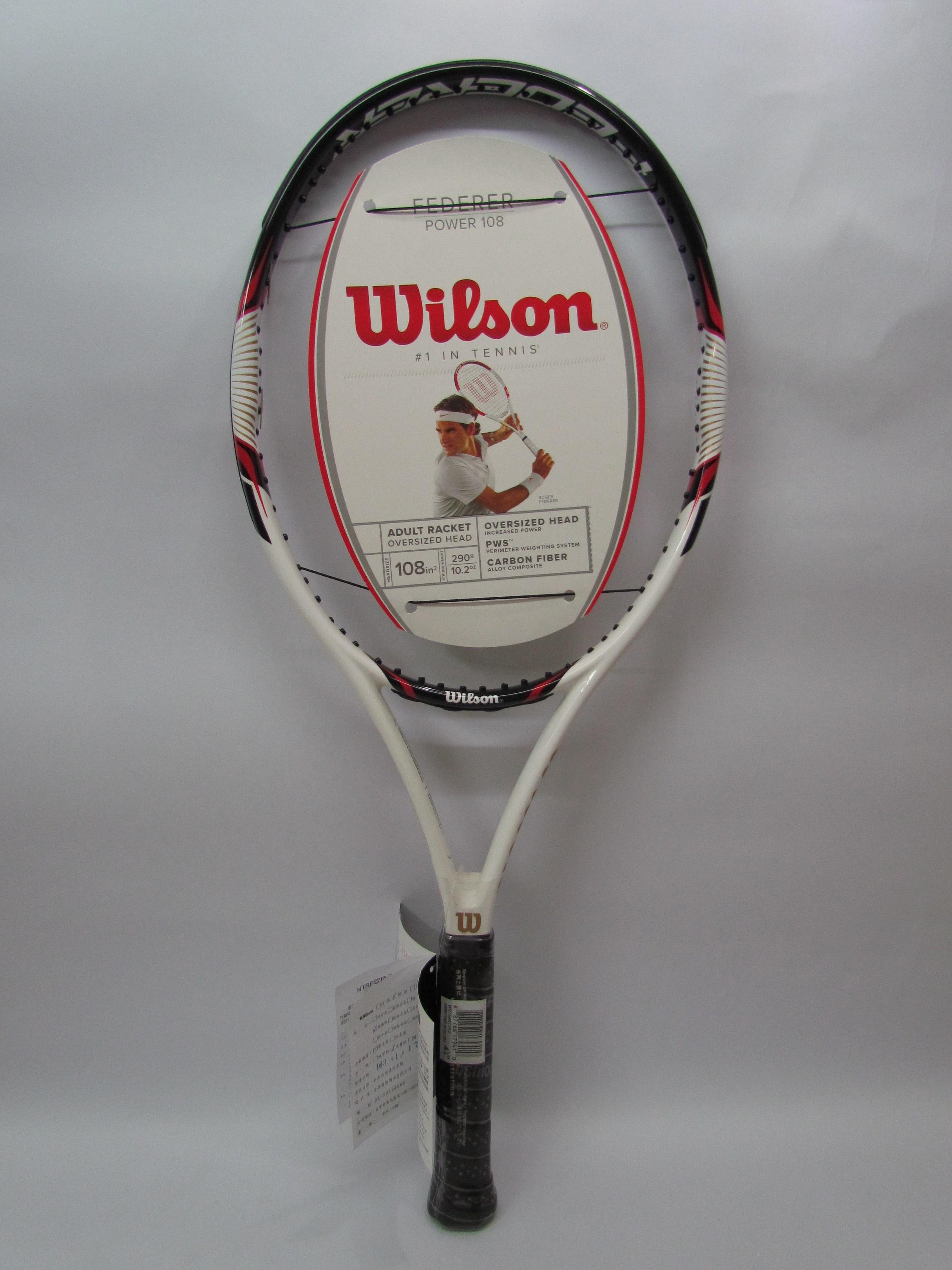 Wilson專業網球拍 Federer Power 108