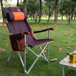 美麗大街【CP14079600】TNR鋁合金便攜式摺疊扶手靠背枕頭大川椅