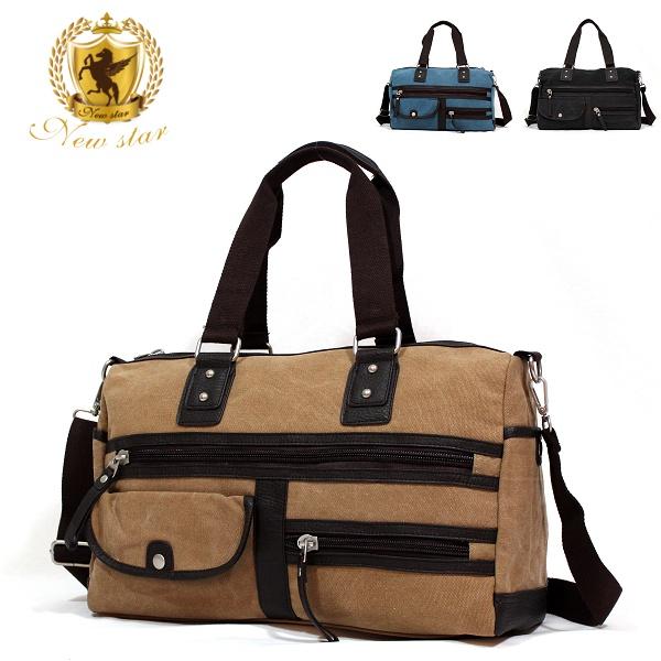肩背包 韓風質感配皮多口袋斜背包旅行袋手提包 NEW STAR BB33