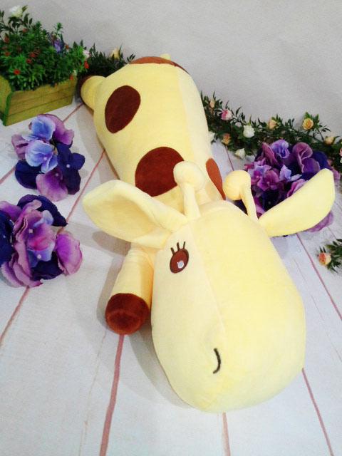 ~*My 71*~   絨毛娃娃13吋 趴姿長頸鹿 長 65cm 玩偶 動物 系列 抱枕 娃娃 兒童 玩具 禮物