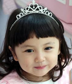 天使嫁衣【童CP11】閃亮水鑽髮箍式造型皇冠˙預購訂製款