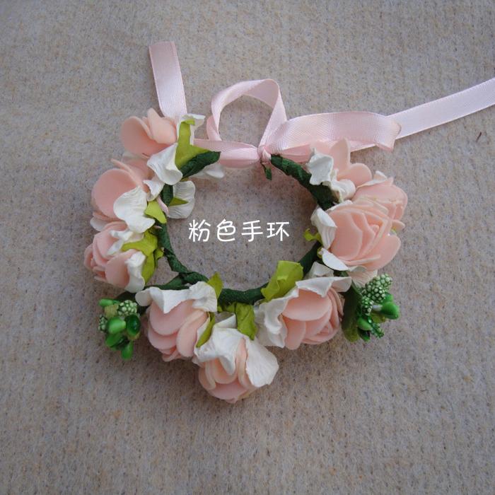 天使嫁衣【童CP20】2色泡棉仿花朵造型手腕花˙特價預購訂製款