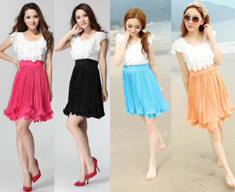 天使嫁衣【CO6068】橙色層層背心式百折顯瘦下擺洋裝小禮服˙現貨特價出清