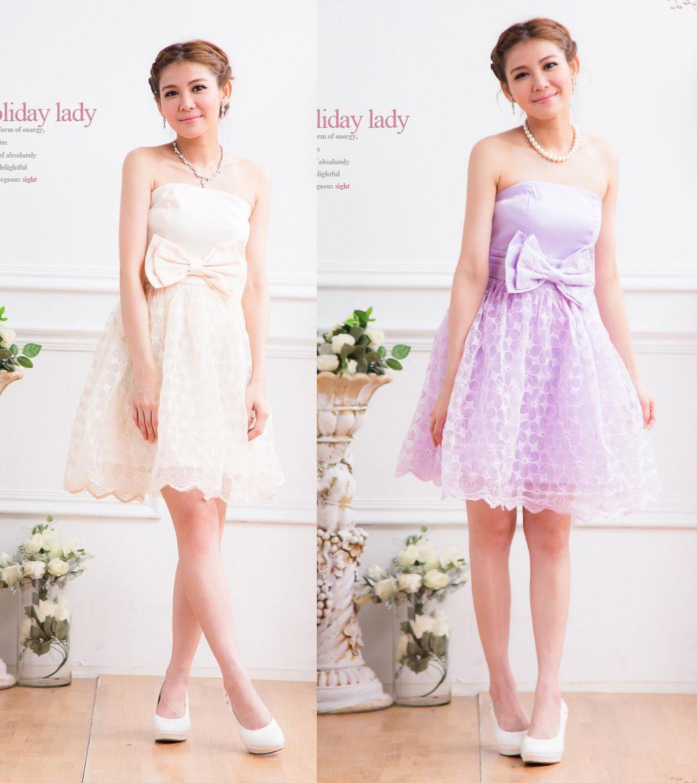 天使嫁衣【HL2315】2色中大尺碼仿綢緞大蝴蝶結腰飾洋裝小禮服˙預購訂製款