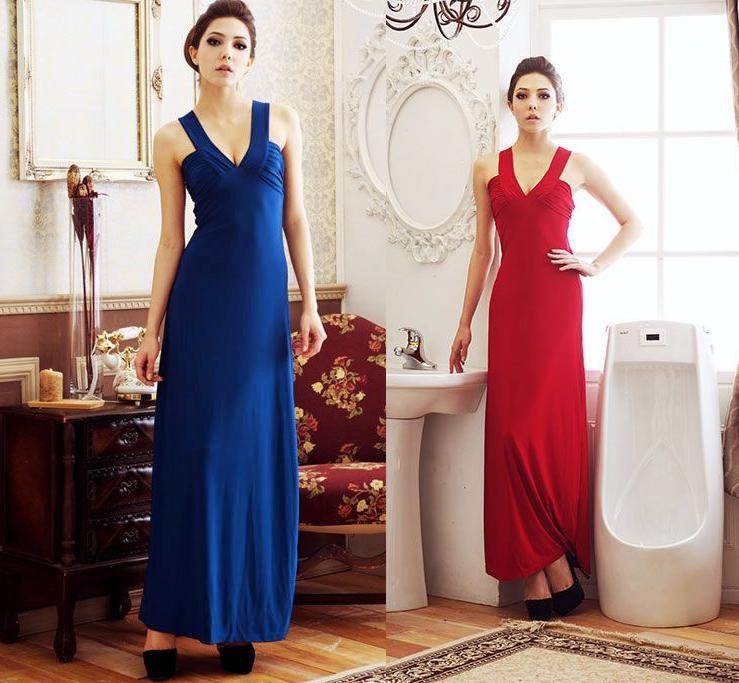 天使嫁衣【HL501】紅色中大尺碼深V美溝性感洋裝小禮服˙預購訂製款