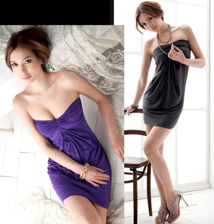 天使嫁衣【HL495】2色摩登SEXY派對性感抹胸洋裝˙預購訂製款