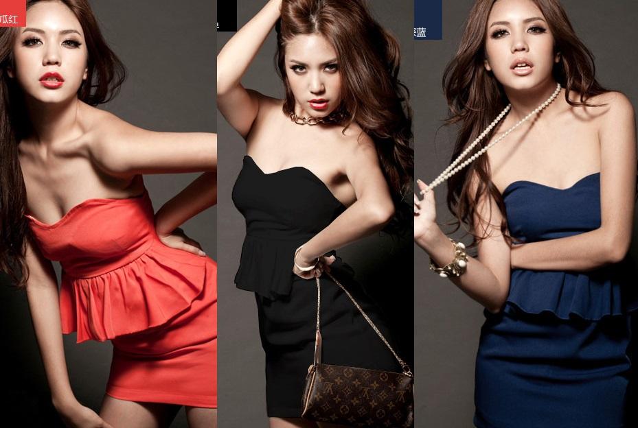 天使嫁衣【HL500】3色中大尺碼日系抹胸洋裝小禮服˙預購訂製款