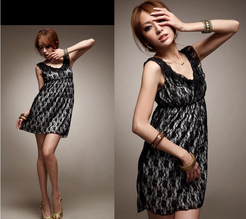天使嫁衣【HL636】中大尺碼氣質荷葉領鬆緊腰蕾絲洋裝小禮服˙預購訂製款