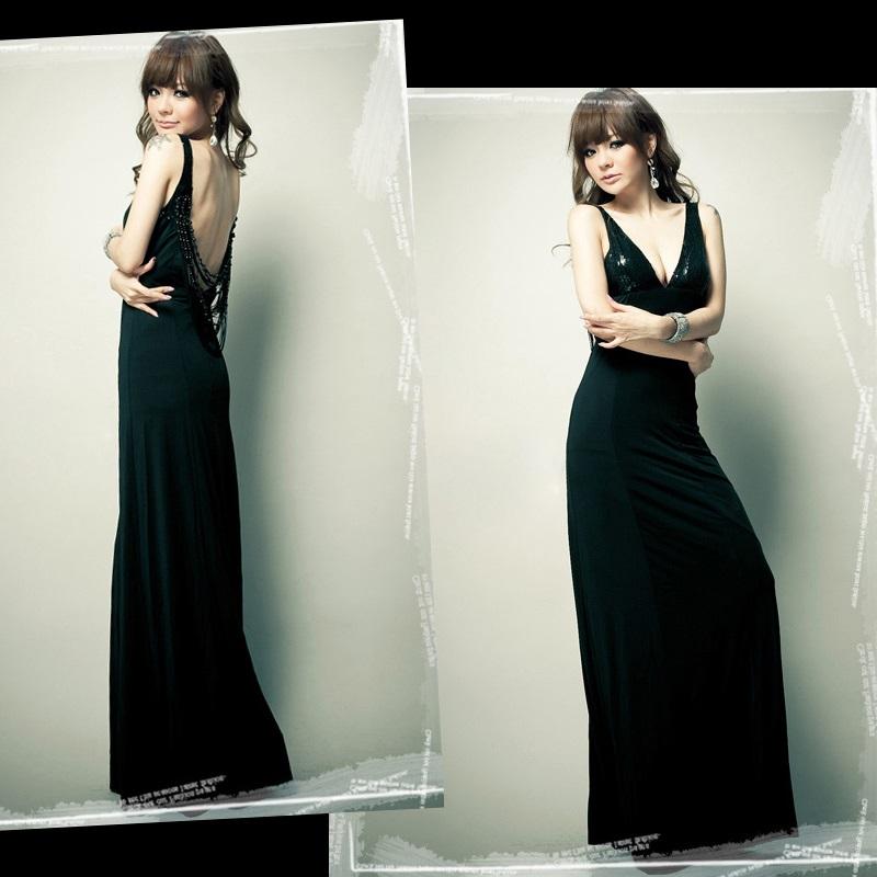 天使嫁衣【HL653】中大尺碼V領大露背長洋裝禮服˙預購訂製款+現貨