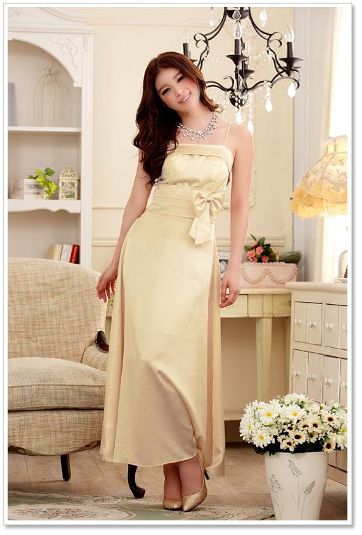天使嫁衣【JK3221】3色晚宴盛裝修身仿真絲吊帶長洋裝禮服˙預購