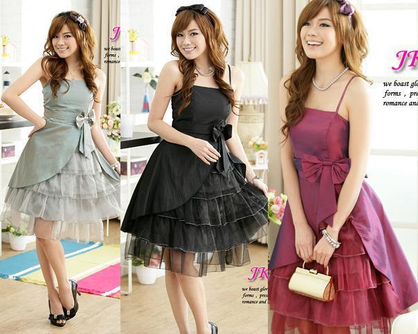 天使嫁衣【J2K1162】3色中大尺碼多層裙擺洋裝小禮服˙預購訂製款