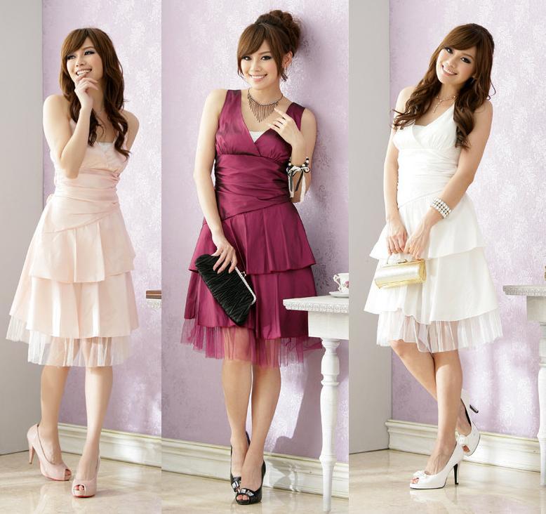 天使嫁衣【J2K1270】3色繞頸綁帶伴娘洋裝小禮服˙預購