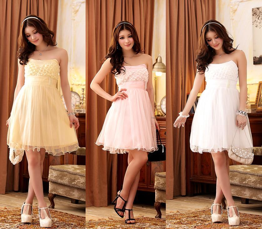 天使嫁衣【J2K3213】3色歐式宮廷風抹胸洋裝小禮服˙預購+現貨