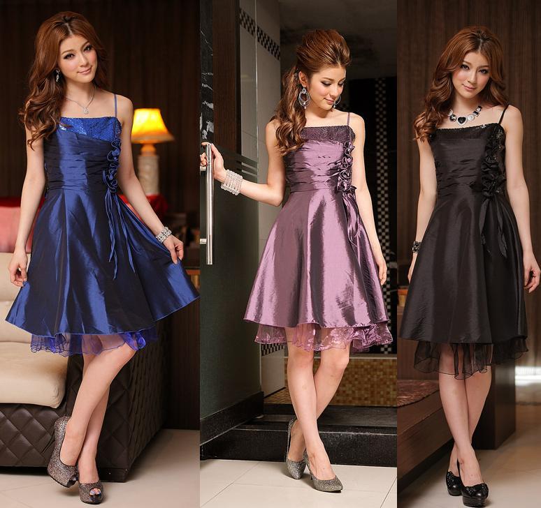 天使嫁衣【J2K8130】3色中大尺碼優美手工排花洋裝小禮服˙預購訂製款