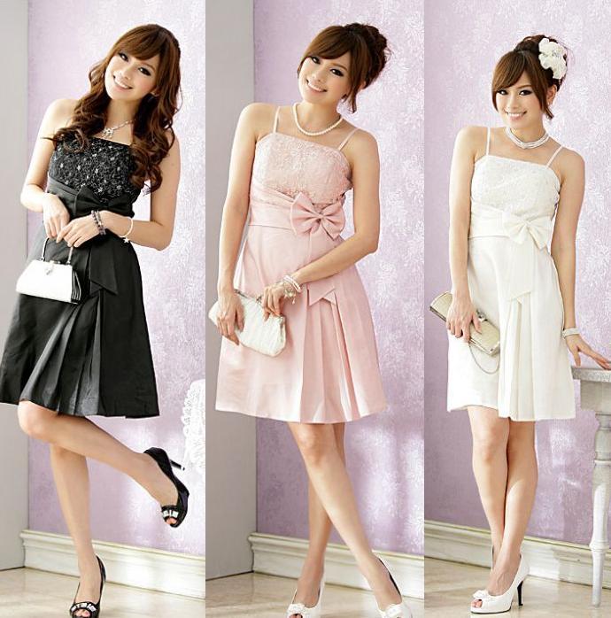 天使嫁衣【J2K8200】3色時尚派對必備色丁洋裝小禮服˙預購