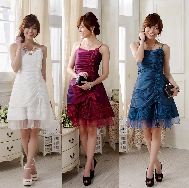 天使嫁衣【J2K9903】3色中大尺碼歐美風格吊帶車花收腰宴會洋裝小禮服˙預購訂製款