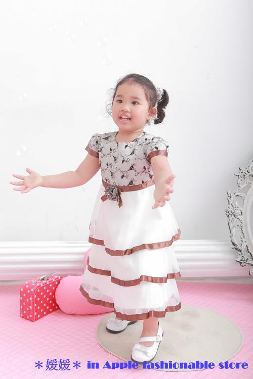 天使嫁衣【童950701】收邊拼色層層網紗禮服˙現貨特價出清