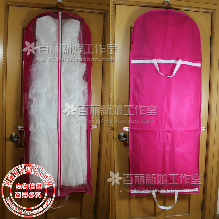 天使嫁衣【PL004】8色亮彩鮮明婚紗禮服防塵套-預購