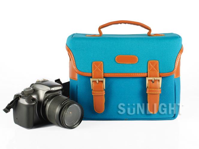 日光城【手提側背兩用立體箱型單眼相機包3021】方型背包Canon NIKON Sony
