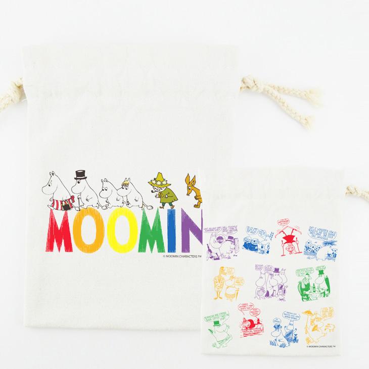 Moomin嚕嚕米授權 - 束口袋:【 Happy Family 】