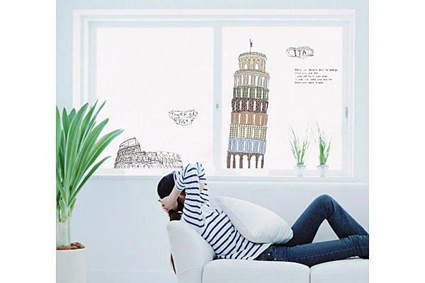 BO雜貨【YP1649】創意可移動壁貼 牆貼 背景貼 壁貼樹 時尚組合壁貼 璧貼 比薩斜塔