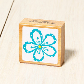 「Kodomo小孩牌」北歐系列小印章-北歐藍色花瓣