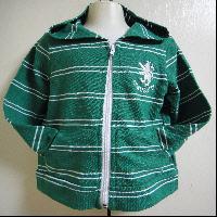 綠色橫紋外套
