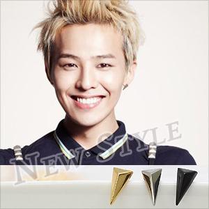 ☆ New Style ☆ BIGBANG 權志龍 G-Dragon GD 同款立體三角耳釘耳環 (單支價)