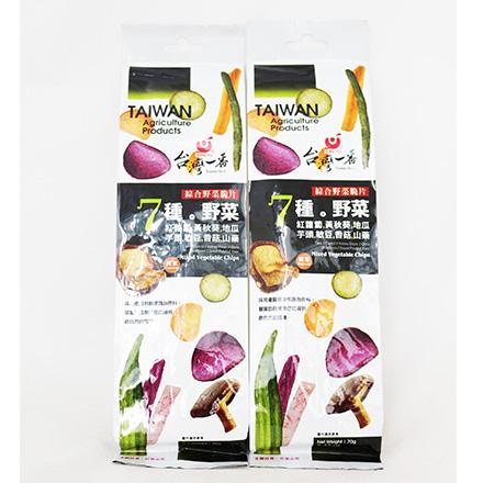 [敵富朗超市]台灣一番綜合野菜脆片(70g)