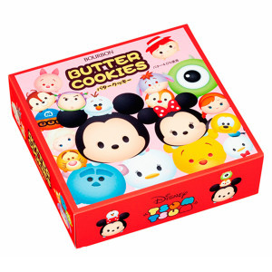 【Bourbon北日本】日本Disney迪士尼 TSUM TSUM奶油餅乾禮盒 (297g) ディズニーツムツム バタークッキー缶 ブルボン※SUPERSALE滿$888折$166