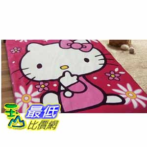 [COSCO代購 如果沒搶到鄭重道歉] Hello Kitty 金紡絨毯 140x200 公分 _W108064
