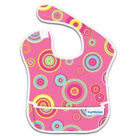 【淘氣寶寶】2016年最新 美國Bumkins防水兒童圍兜(一般無袖款6個月~2歲適用)-粉紅普普 【保證公司貨】