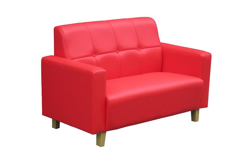 【新生活家具】 皮沙發 紅色 二人座 七色可選 《碧玉思》 工廠直營 臺灣製造 非 H&D ikea 宜家