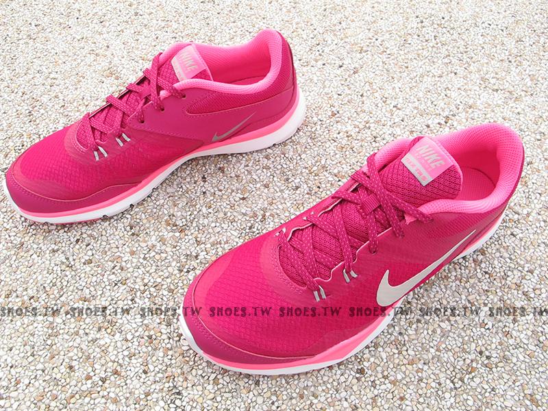 [24cm] Shoestw【724858-603】NIKE WMNS FLEX TRAINER5 訓練鞋 慢跑鞋 桃紫 女款