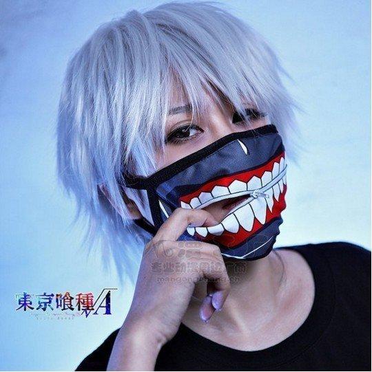 東京喰種 新款東京食屍鬼金木研拉鏈口罩 東京食種口罩 恐怖口罩漫展熱賣