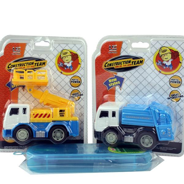 一般垃圾車 魔輪工程車玩具(明吊式)/一台入{促80}~CF108072