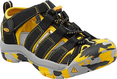 《台南悠活運動家》 KEEN 美國 兒童護趾涼鞋 黃 1014260