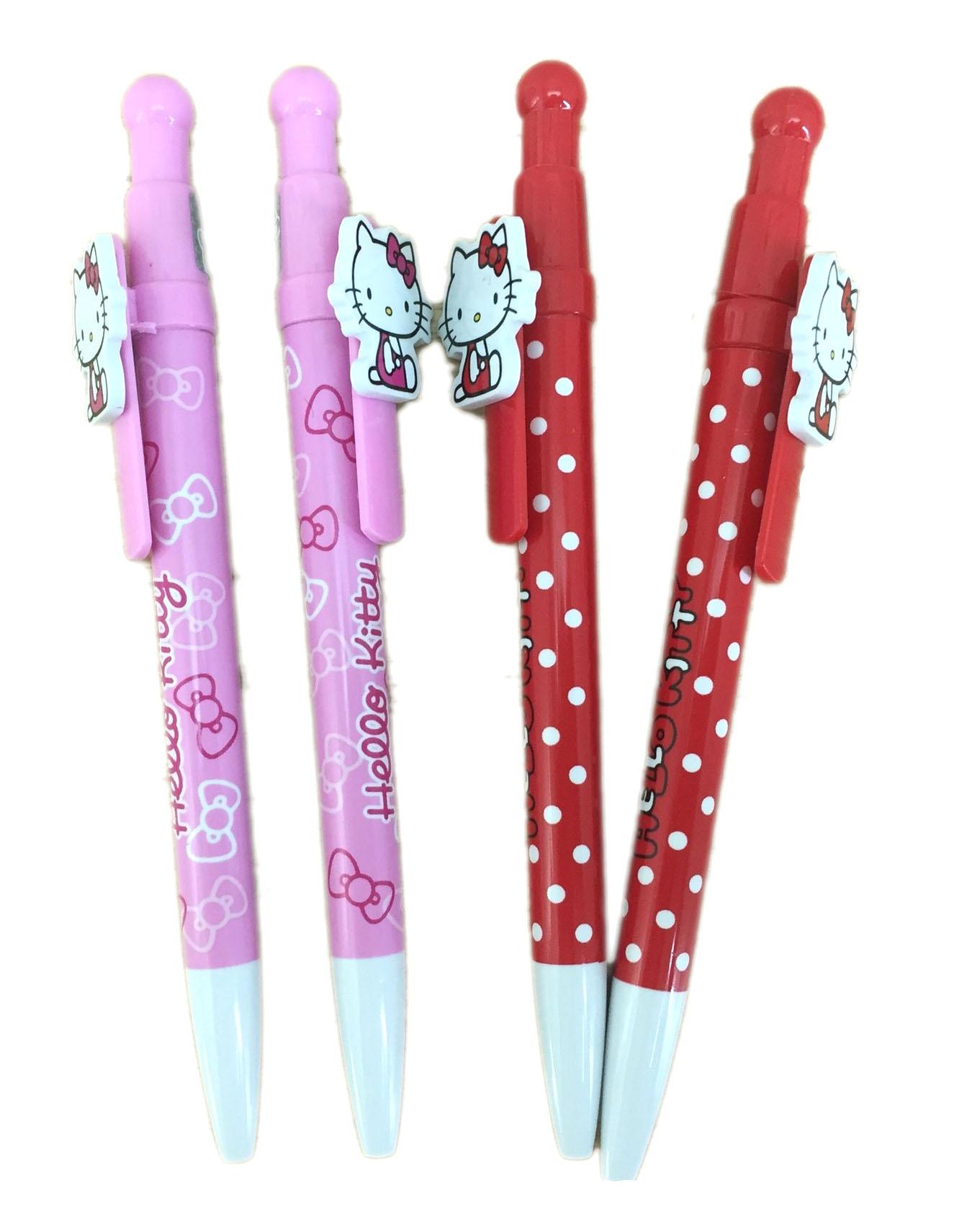 【真愛日本】16070100011可愛筆夾原子筆-側坐2色  三麗鷗 Hello Kitty 凱蒂貓   原子筆  文具用品  書寫用具