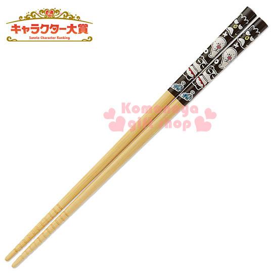 〔小禮堂〕酷企鵝 日製天然竹筷子《黑.朋友》2016 Sanrio人物大賞系列