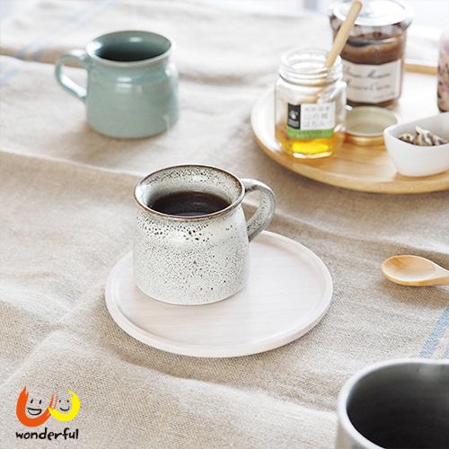 ACACIA 圓形木製餐盤白色(小)