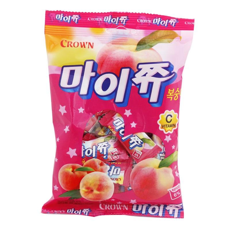 韓國零食 Crown 水蜜桃軟糖 韓星IU最愛