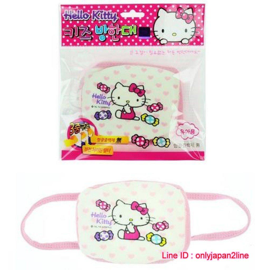 【真愛日本】16102100019兒童口罩-KT糖果吮指愛心  三麗鷗 Hello Kitty 凱蒂貓  口罩  防塵罩  外出用品