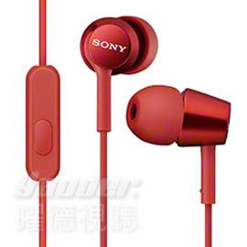 【曜德視聽】SONY MDR-EX150AP 紅色 時尚金屬 支援智慧型手機 免持通話 ★免運★送收納盒★