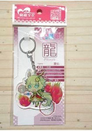 12生肖獸娘 X 台灣水果 龍【火龍果】壓克力鑰匙圈