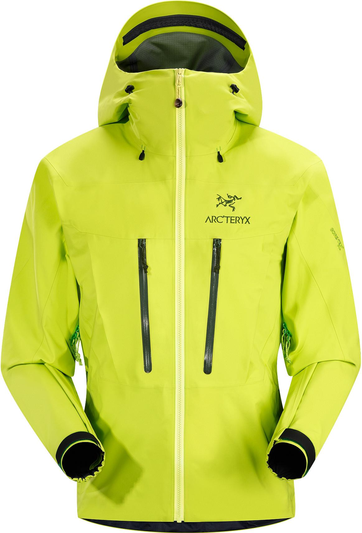 Arcteryx 始祖鳥 雨衣/健行/背包客/玉山 Alpha SV 登山雨衣/風雨衣 頂級款 男 Gore Tex Pro 12700 猛毒黃 Arc'teryx 加拿大製
