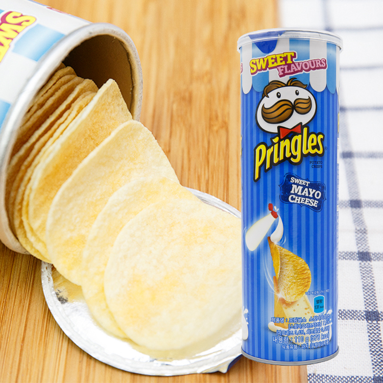 PRINGLES 品客洋芋片 110g 奶起司乳酪 藍罐品客(韓國限定) 【庫奇小舖】