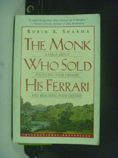 【書寶二手書T4/原文小說_OEZ】The Monk Who Sold His Ferrari