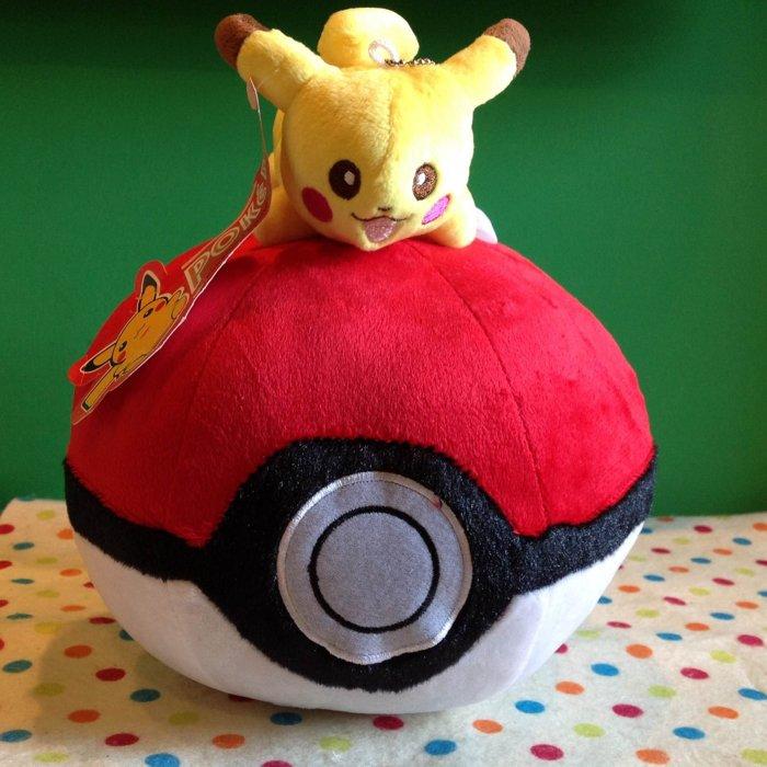 =優生活=神奇寶貝 寶可夢Pokemon go 皮卡丘寶貝球 抱枕 造型娃娃 寵物小精靈 毛絨 布偶 玩偶 口袋怪獸