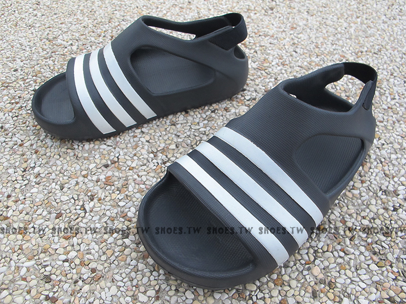 Shoestw【S74734】ADIDAS 童鞋 涼鞋 小童 Adilette Play I 黑白